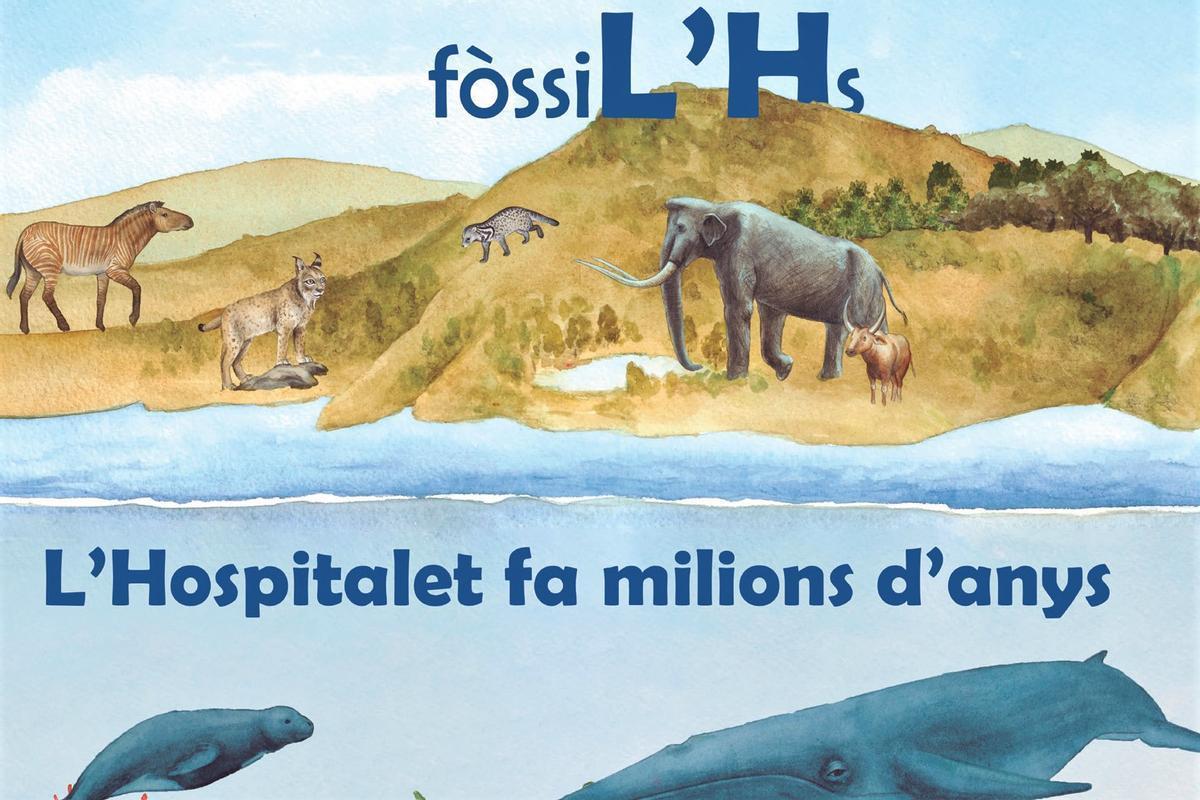 Cartel de la muestra 'FòssiL'Hs' de L'Hospitalet de Llobregat.