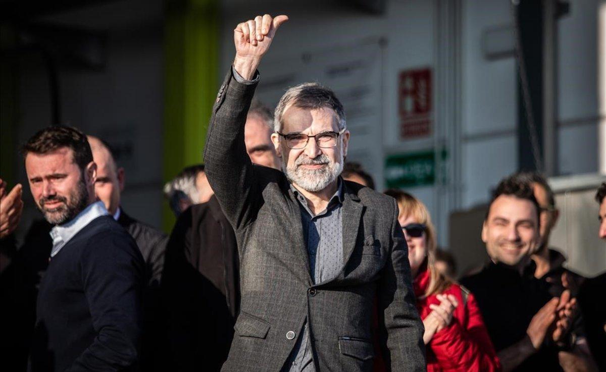 Jordi Cuixart, a su llegada a la empresa Aranow, en Sentmenat, el pasado 13 de febrero.