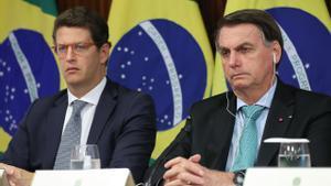 Jair Bolsonaro durante la cumbre virtual sobre el planeta.