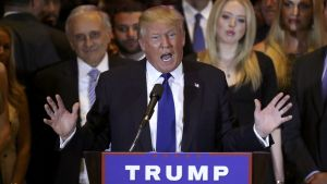 Donald Trump, durante una rueda de prensa en Nueva York.