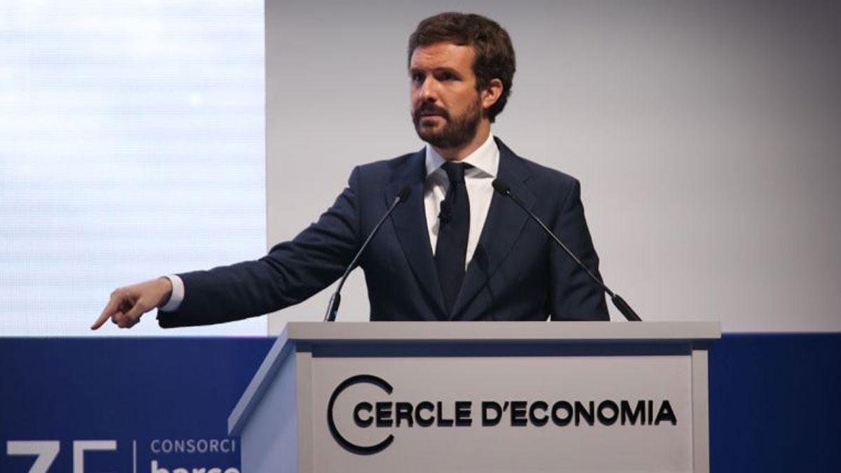 Pablo Casado, en el Cercle d'Economia de Barcelona.