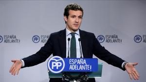 El vicesecretario de comunicación delPP,Pablo Casado,en una foto de archivo.
