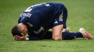 Cristiano se lamenta tras una ocasión desperdiciada ante el Benevento.