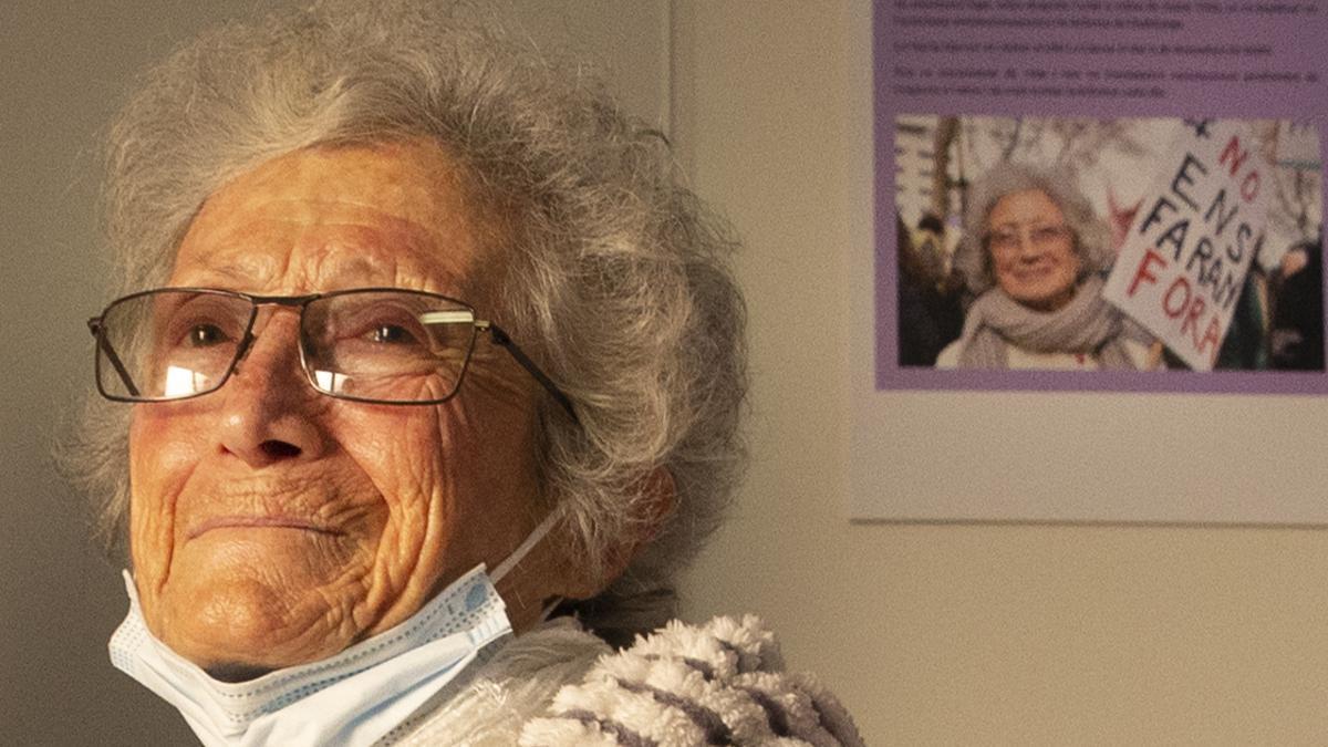 Núria Marcet visita el piso para mujeres sin hogar que lleva su nombre.
