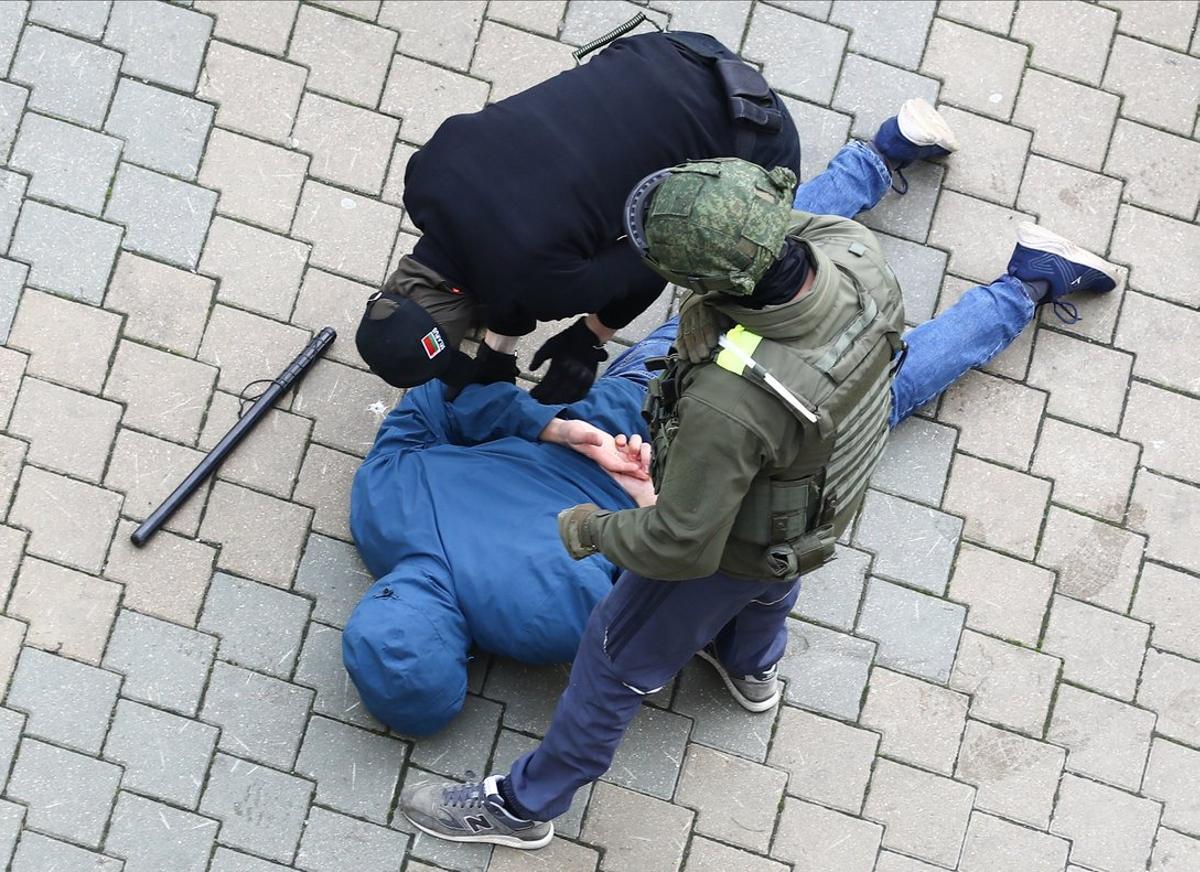 Se han producido recurrentes detenciones por parte de las fuerzas de seguridad en Minsk.