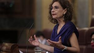 María Jesús Montero, en el Congreso.
