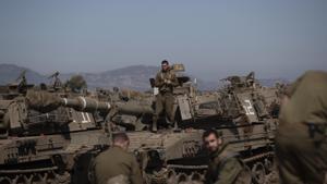 Una unidad del Ejército israelí en los Altos del Golán, territorio ocupado fronterizo con Siria.