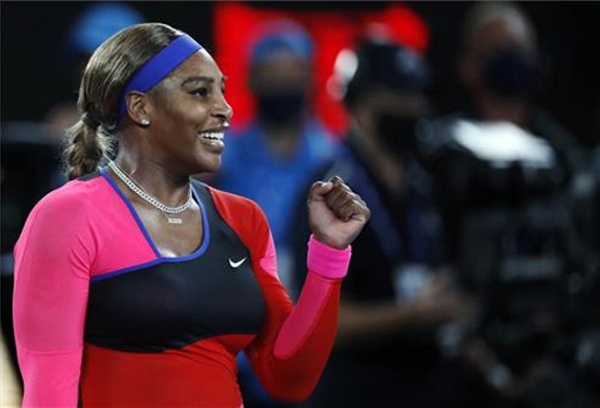 Serena Williams celebra su triunfo.