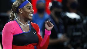 Serena Williams celebra su triunfo.