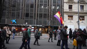 Familiares de usuarios de residencias y pensionistas se manifiestan en defensa de los mayores en las residencias, en Bilbao el pasado miércoles.
