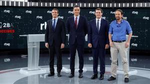 RTVE ofereix un debat electoral a cinc el 4 de novembre i tres 'cara a cara'