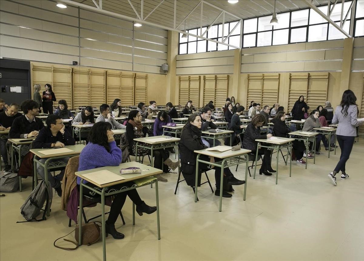 Oposición de Ensenyament para profesores de enseñaza secundaria.