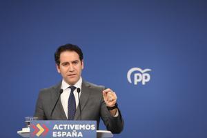 García Egea, en una rueda de prensa el 19 de enero.