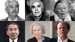William Faulkner, Isak Dinesen, Marguerite Yourcenar, Haruki Murakami, Margaret Atwood y Javier Marías, seis de los 100 autores entrevistados.
