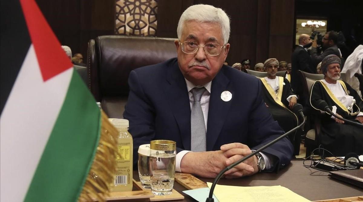 Abbás, en la cumbre de la Liga Árabe, en el mar Muerto, en Jordania, el 29 de marzo.