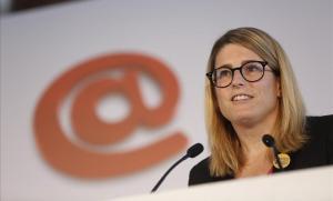 Elsa Artadi, en una imagen de archivo durante su intervención en el foro de debate Primera Plana.