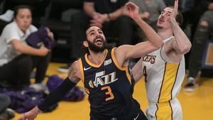 Ricky Rubio, en el último partido de Utah ante los Lakers.