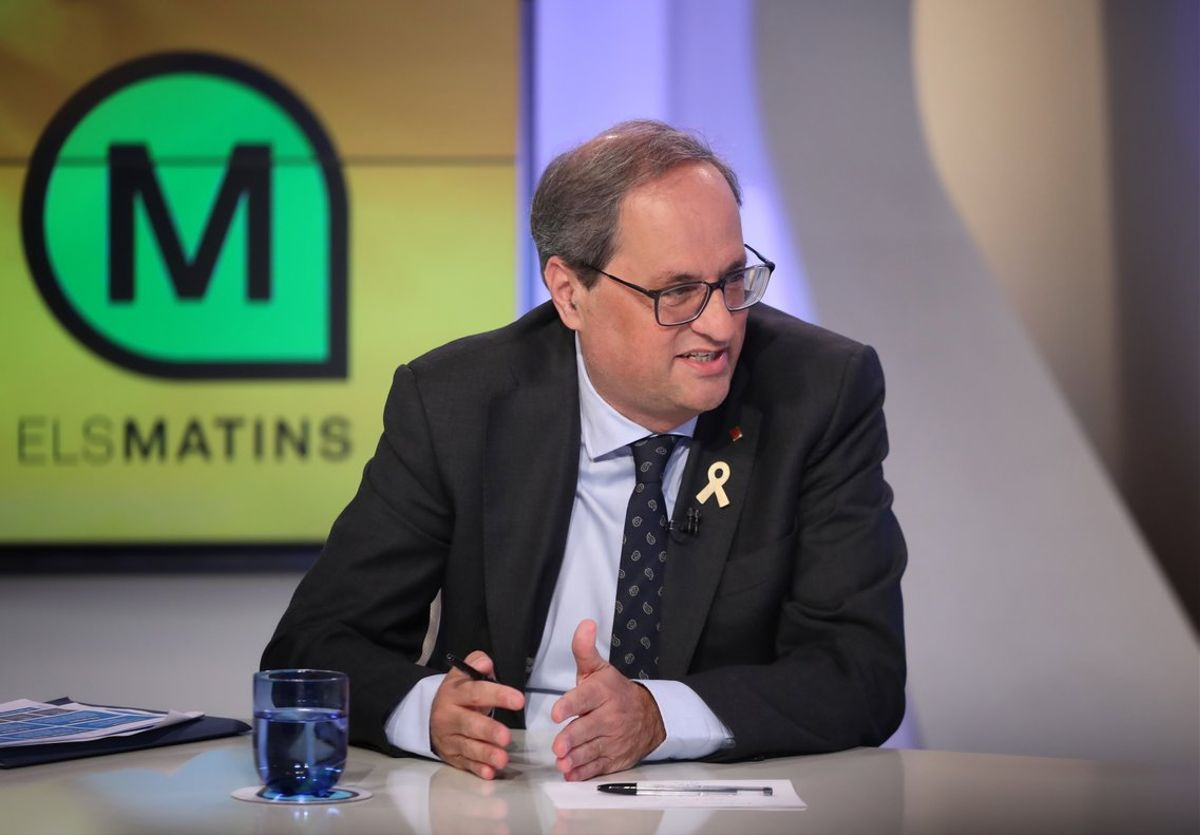 Quim Torra entrevistado en 'Els matins' de TV-3.