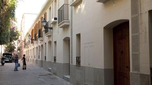 La calle Canet del núclea antiguo de Sarrià.