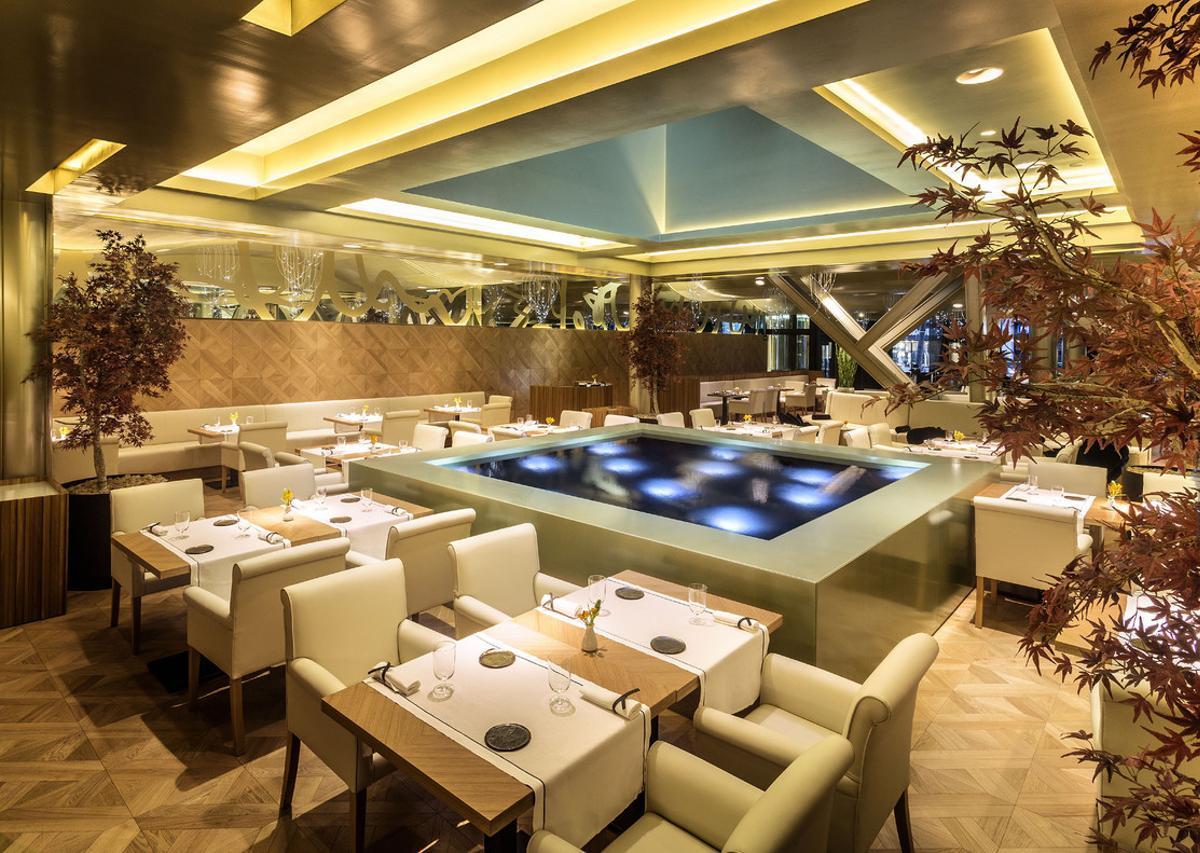 Panorámica del restaurante Oria, en el hotel Monument de Barcelona.