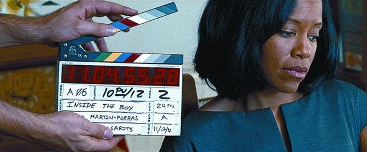 La actriz Regina King, en el rodaje del corto 'Inside the box', uno de los proyectos de La Panda.
