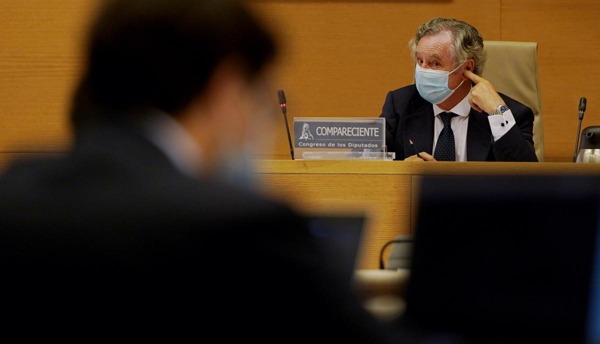 Ignacio López durante su comparecencia en la comisión de investigación del caso Kitchen, en el Congreso de los Diputados.