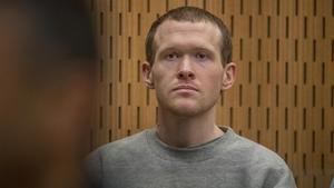 El autor confeso delatentadode Christchurch, Brento Tarrant, este lunes en el juzgado.