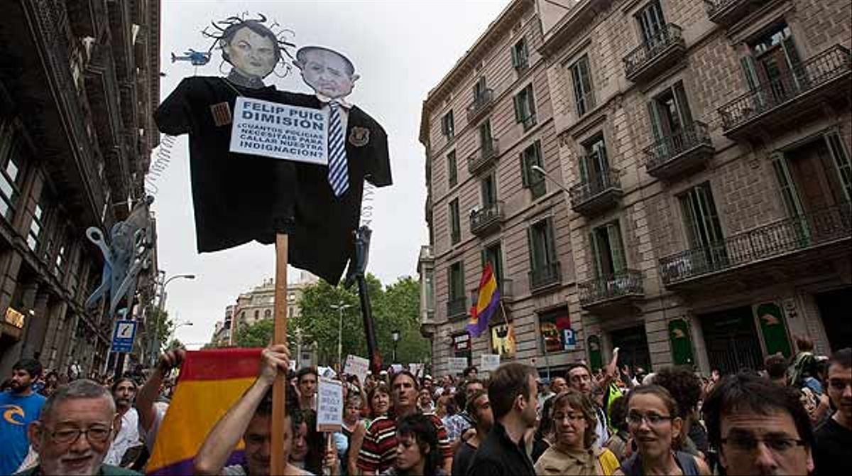 Manifestación del 19-J por las calles de Barcelona. FOTO Danny Caminal VÍDEO: