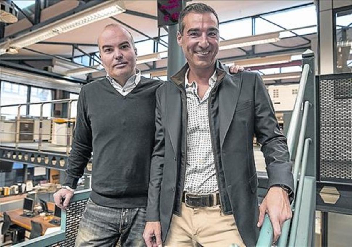 Socios 8 Gerard Olivé (izquierda) y Miguel Vicente.