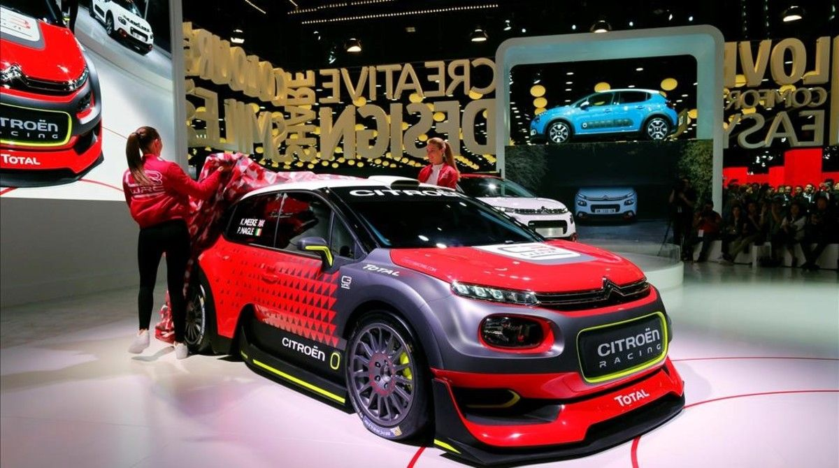 Presentación del Citroën C3 WRC en París.