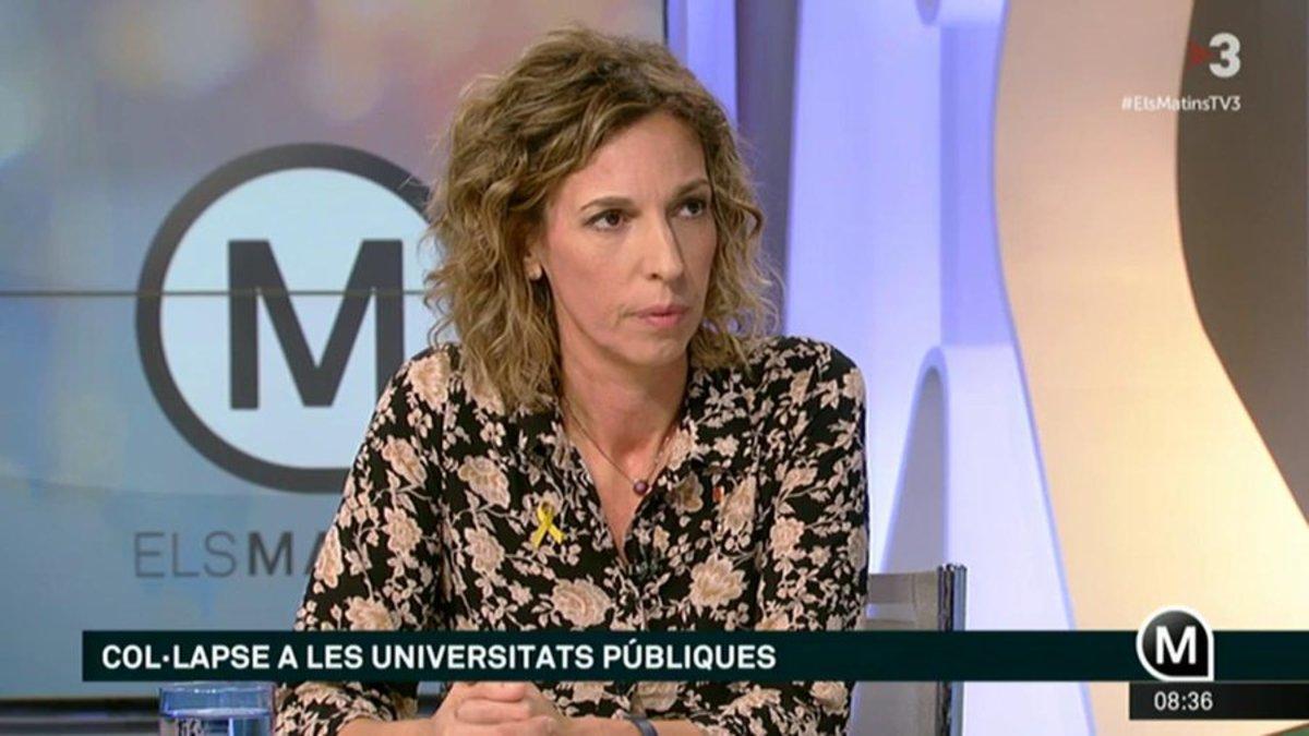 La 'consellera' Chacón, en 'Els Matins'.