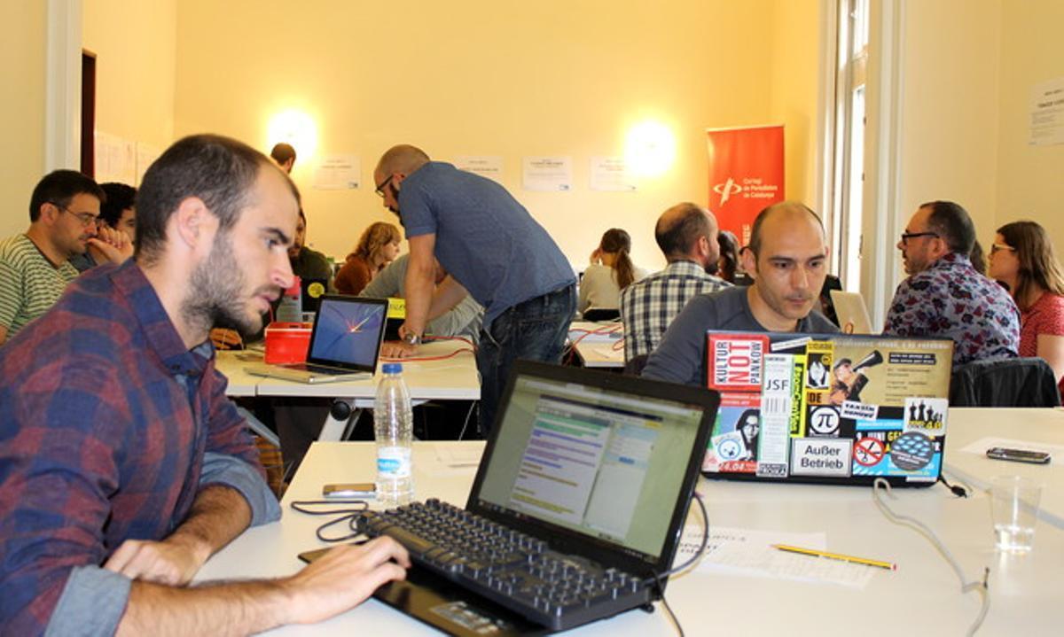 Jornada de Datactic en el Col·legi de Periodistes en Barcelona.