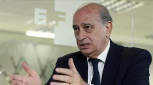 El ministro del Interior en funciones y cabeza de lista del PP catalán, Jorge Fernández Díaz.