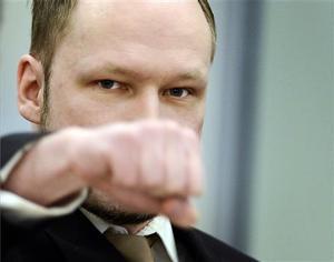El extremista Anders Breivik, autor del atentado de Oslo en el 2011, en el juicio celebrado en el 2012.
