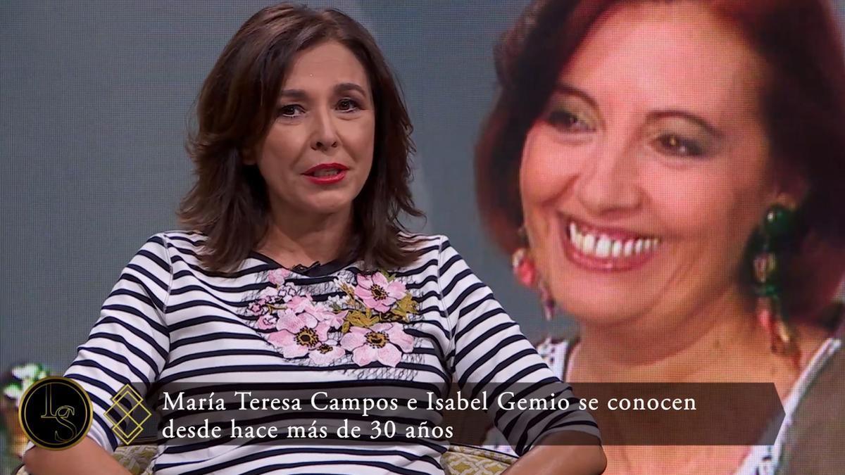 Isabel Gemio aparece en 'Lazos de sangre' tras su polémico desencuentro con María Teresa Campos