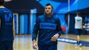 Alessandro Gentile, en un entrenamiento del Estudiantes de esta semana.