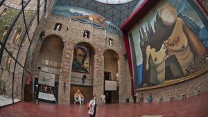 Interior del Teatro Museo Dalí en Figueres, en una foto de archivo.