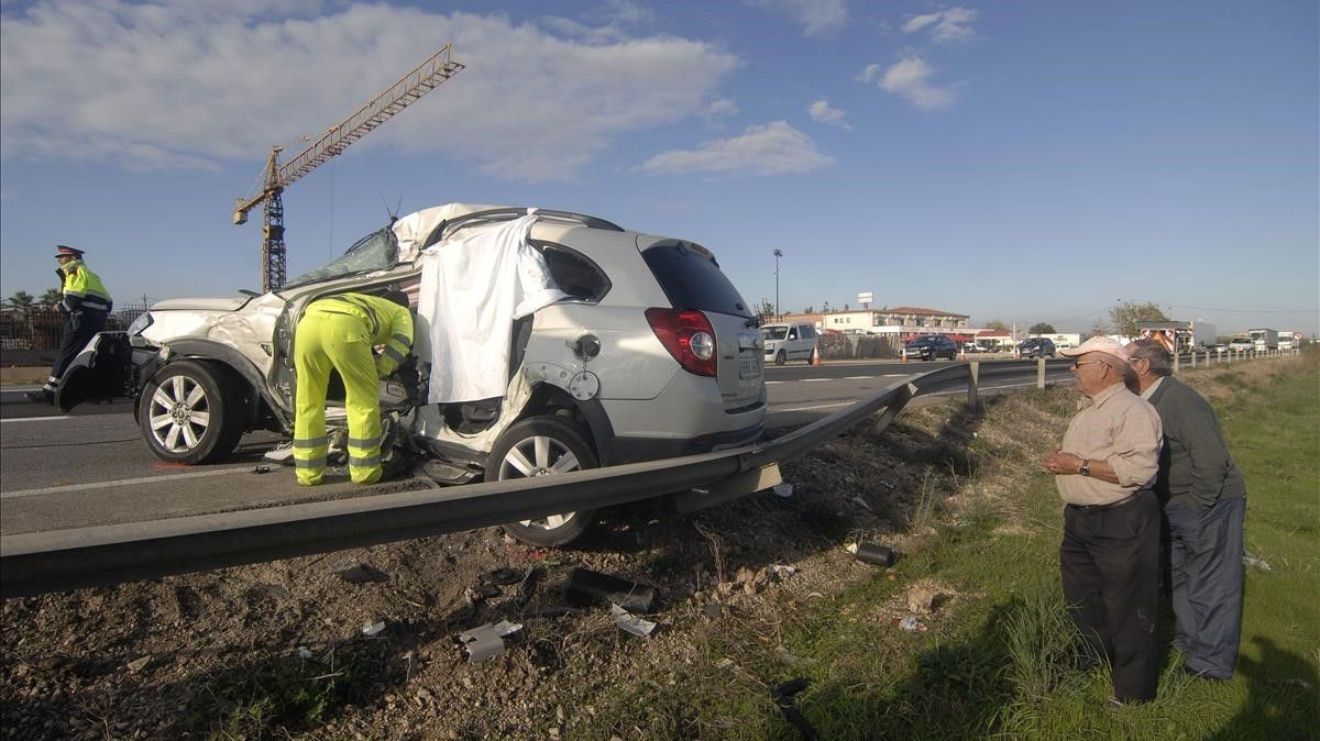 Accidente mortal en la N-340.