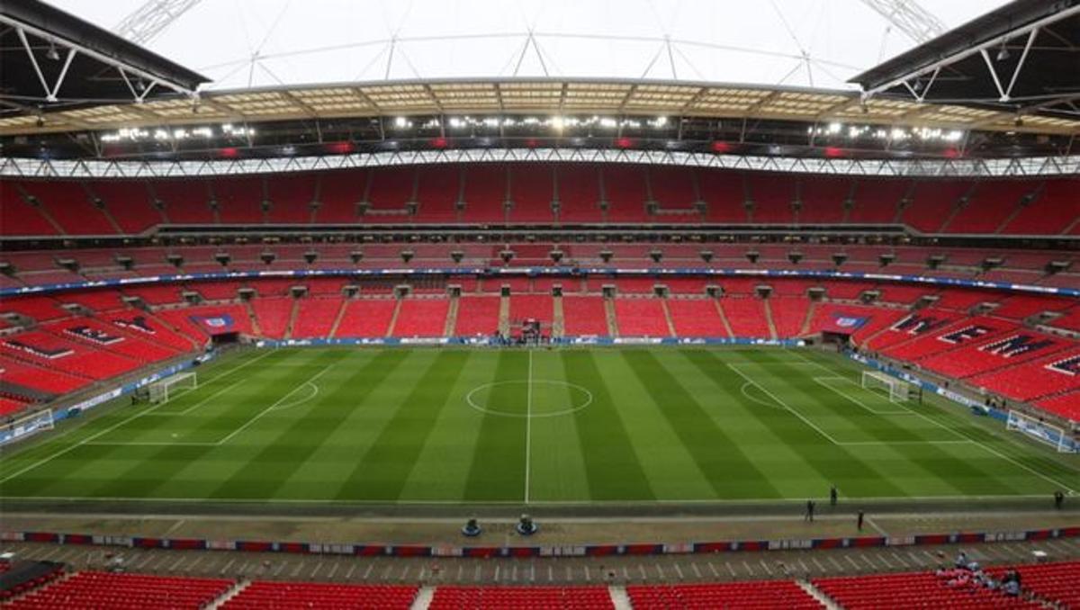 El majestuoso estadio de Wembley.