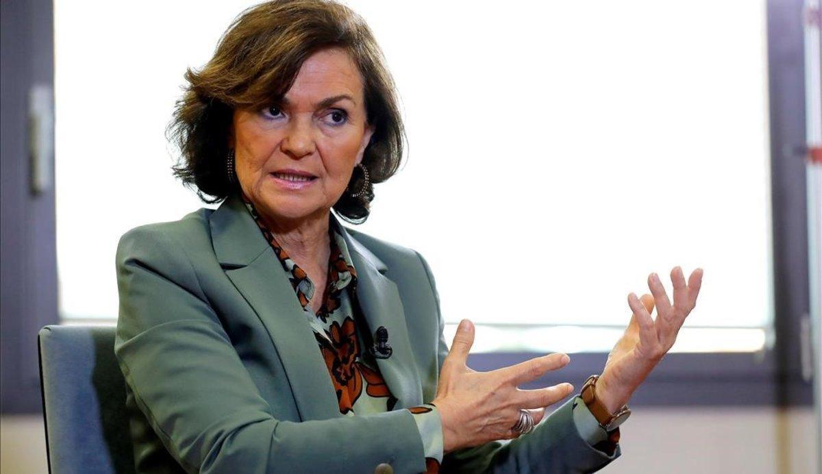 Carmen Calvo anuncia una ley para prohibir la prostitución