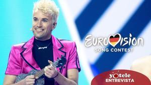 Jendrik, representante de Alemania, en el escenario en Eurovisión 2021