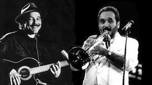 Rubén Blades (izquierda) y Willie Colón.