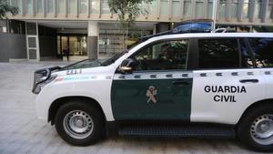 Una patrulla de la Guardia Civil, en Barcelona.