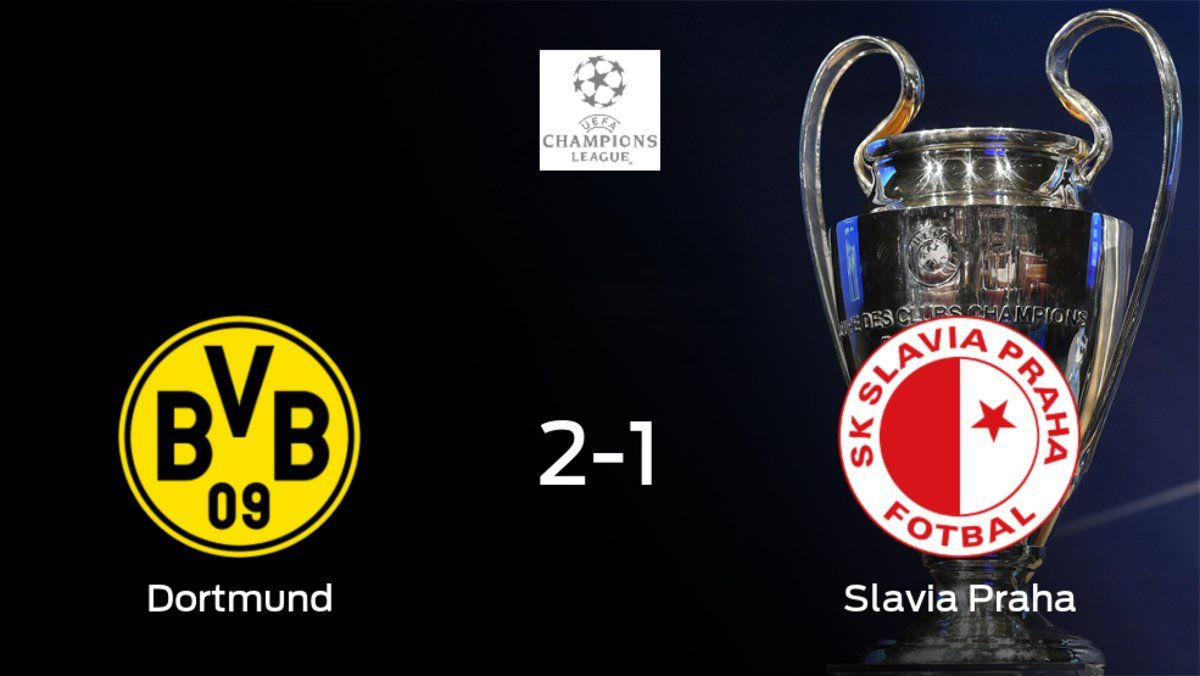 El Borussia de Dortmund suma tres puntos a su casillero tras ganar al Slavia Praha (2-1)