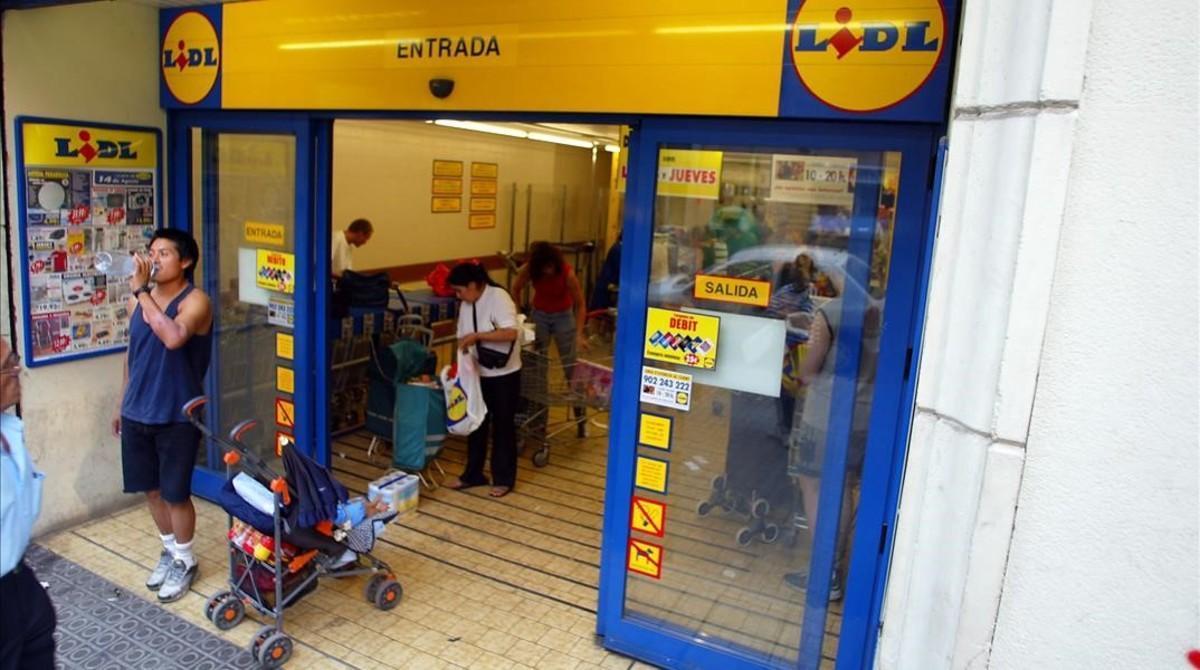 Supermercado de Lidl en Barcelona.