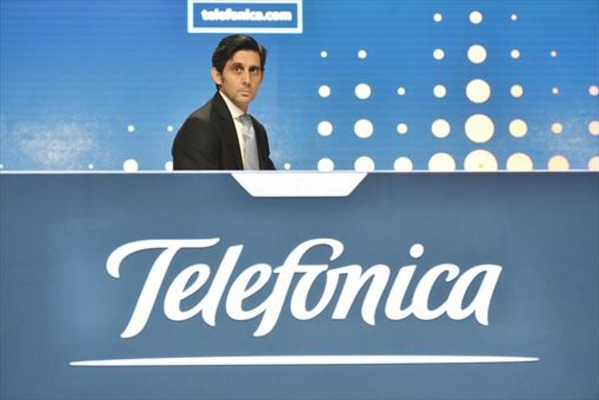 José María Álvarez-Pallete, presidente de Telefónica, en Madrid.