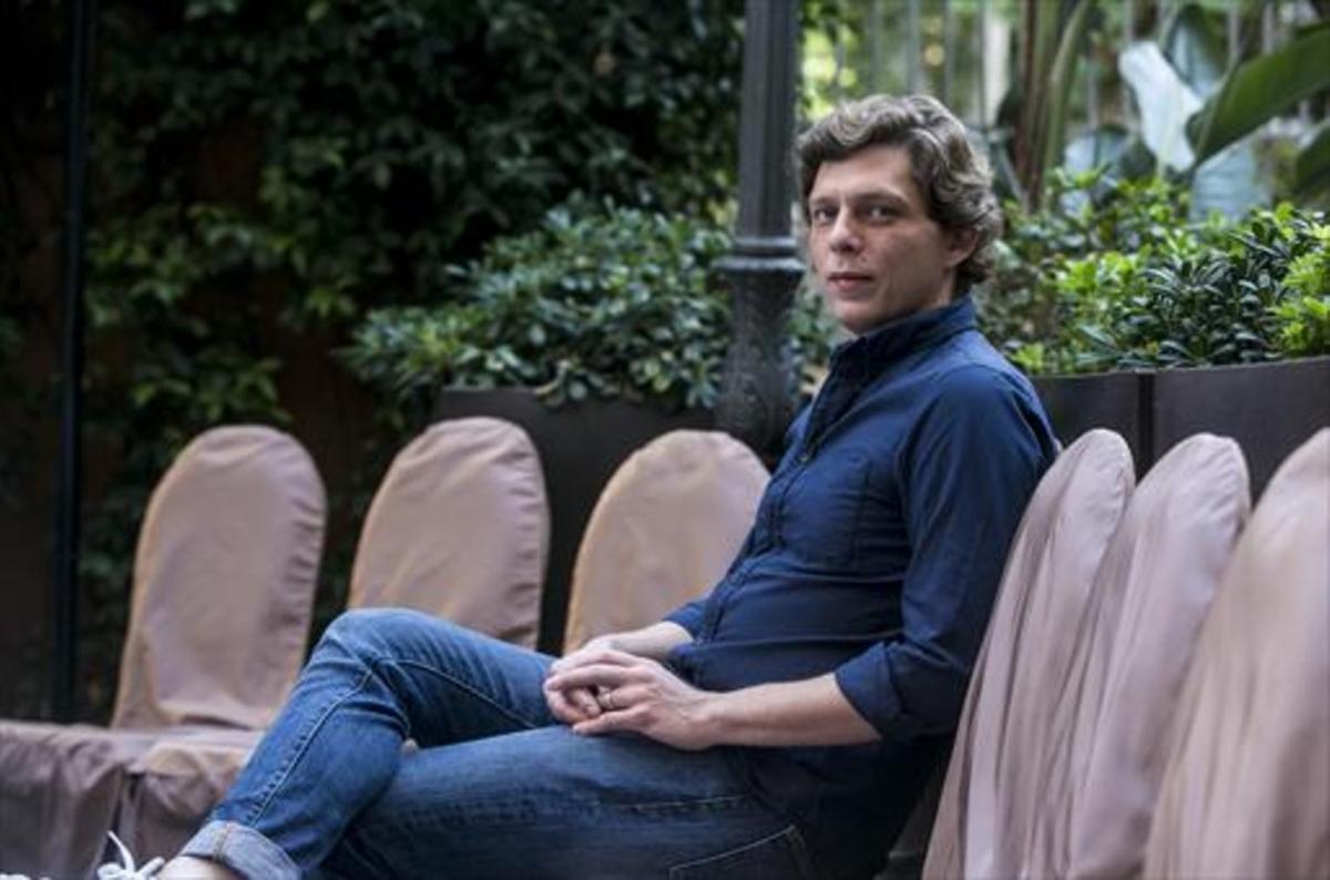Antoine Leiris,en Barcelona, donde presentósu libro 'No tendréis mi odio'.
