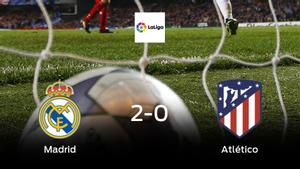 Tres puntos para el equipo local: Real Madrid 2-0 Atlético de Madrid