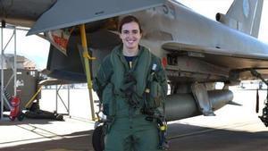 La teniente Elena Gutierrez  primera mujer piloto de Eurofighter en Espana