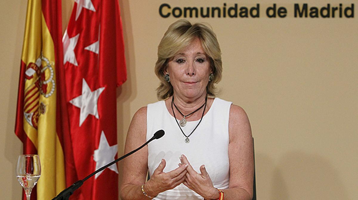 Las razones de Aguirre para dimitir.
